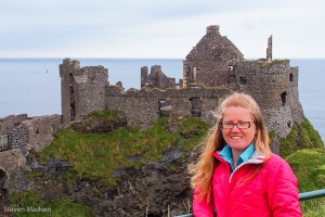 Happy to be at Dunluce Castle