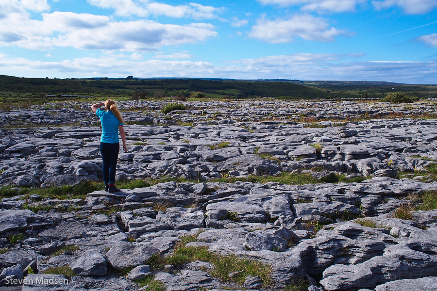 Colleen surveys The Burren