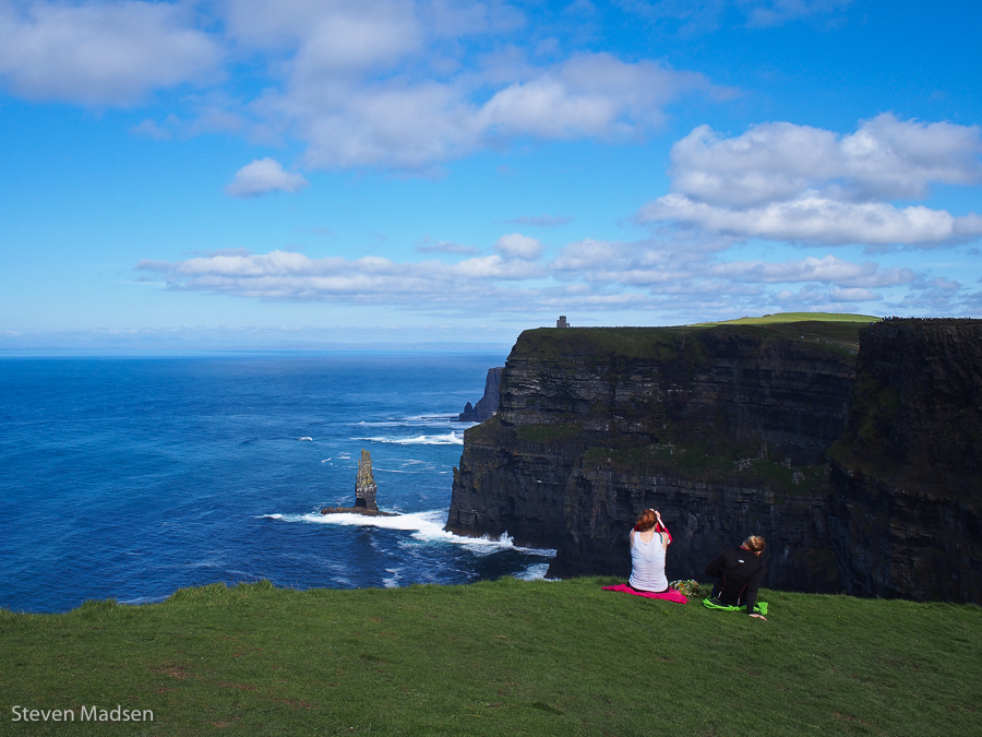 Sitting on the edge of Ireland
